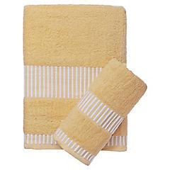 Juego de toallas de baño y mano 460 gr 2 unidades Beige