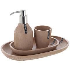 Kit de accesorios para baño 4 piezas Café