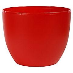 Macetero de plástico 30 cm Rojo