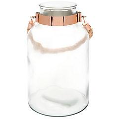 Jarro con cuerda 30 cm vidrio transparente