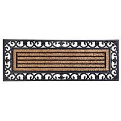 Limpiapiés rectangular líneas coco 45x120 cm