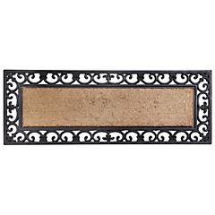 Limpiapiés rectangular liso coco 45x120 cm