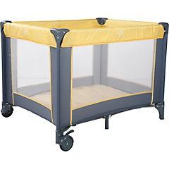 Cuna Corral 103x77x77 cm gris y amarillo