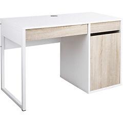 Escritorio función 105x48x71,7 cm blanco y oak