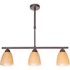 Lámpara de colgar 3 luces Rústica E27 60W