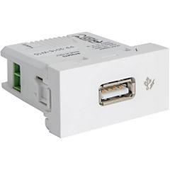 Módulo toma USB cargador 1 m blanco