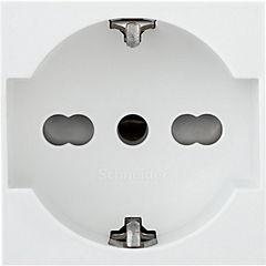 Módulo toma 10/16A schuko 2 m blanco