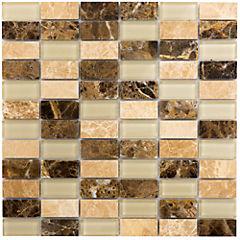 Malla rectangular 30x30 cm Terra beige