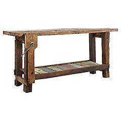 Mesón madera 90x200x50 cm