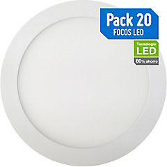 Set de focos empotrables LED 18 W 20 unidades