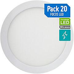 Set de focos sobrepuestos LED 6 W 20 unidades