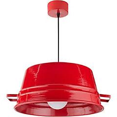 Lámpara de colgar balde rojo GR