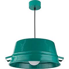 Lámpara de colgar balde turquesa GR