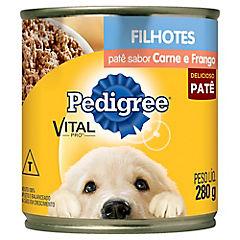 Alimento húmedo en lata para perro cachorro, sabor carne 280 gr