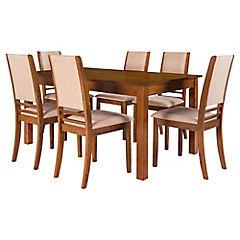 Juego de comedor mesa 6 sillas estam for Comedor de diario sodimac