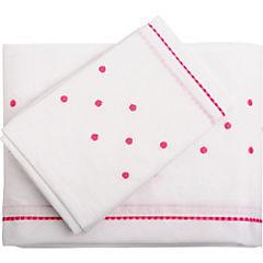 Sábanas para cuna 180 hilos 110x180 cm rosado