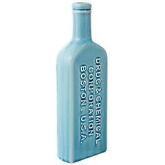 Botella decorativa 30,3x10x5 cm cerámica Celeste