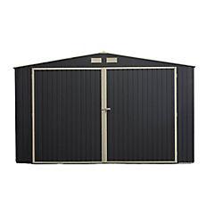 Bodega de jardín 201x530x370 cm de acero negro