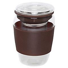 Mug de 350 ml con tapa silicona colores
