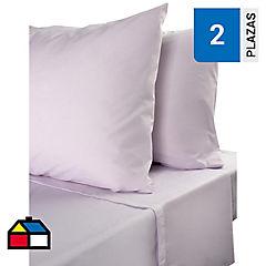 Juego de sábanas 144 hilos 2 plazas lavanda