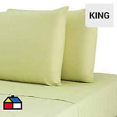 Juego de sábanas 144 hilos King verde