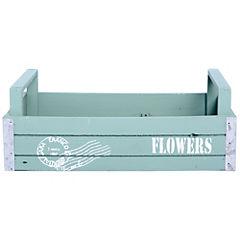 Caja decorativa 13x15x36 cm madera turquesa