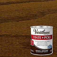 Tinte poliuretano a base de agua semibrillante 0,9 l Nogal oscuro