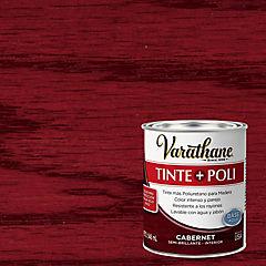 Tinte poliuretano a base de agua semibrillante 0,9 l Cabernet