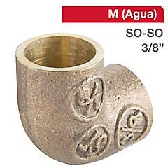 Codo SO-SO bronce 3/8