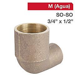 Codo SO-SO bronce 3/4x1/2