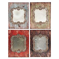 Set de espejos circulares 26x35 cm 4 unidades