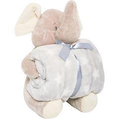 Manta Teddy  elefante gris