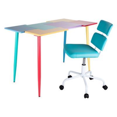 Combo 1 escritorio elisa 1 silla pc caroline for Sillas ergonomicas sodimac