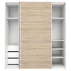 Closet Firenze 182,4x61,7x220 cm blanco / oak