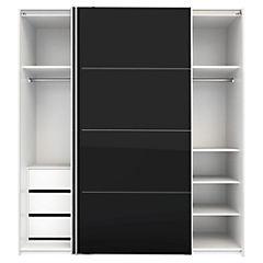 Closet Firenze 182,4x61,7x220 cm blanco / negro