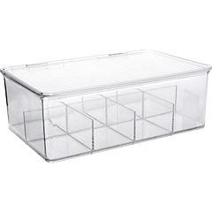 Organizador de té 9,5x27,3x18,4 cm acrílico Transparente
