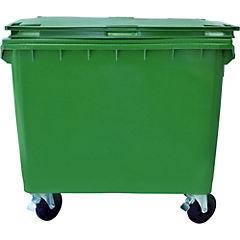 Basurero con tapa 660 litros Verde