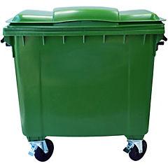 Basurero con tapa 1100 litros Verde