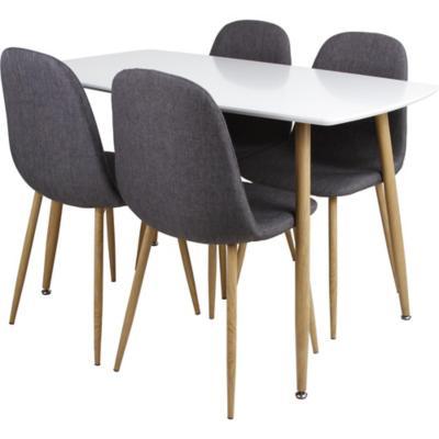 Juego de comedor 4 sillas gris -&nbspSodimac.com