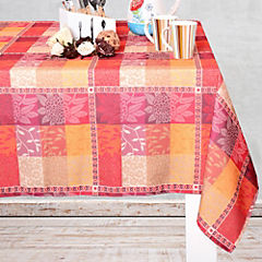 Mantel macrame rectangular 150x270 cm rojo