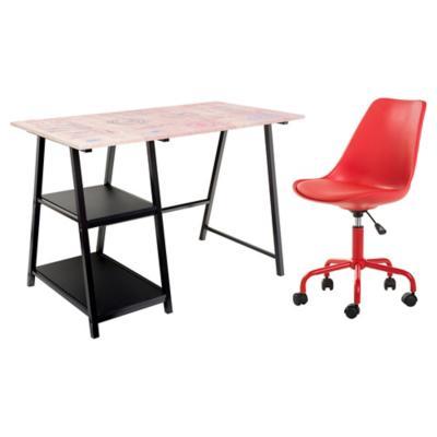 Combo 1 escritorio jose 1 silla tareas for Sillas ergonomicas sodimac