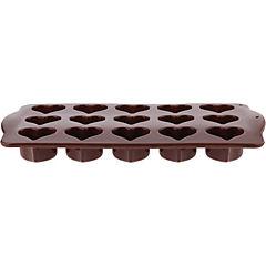 Molde de silicona para chocolate Corazones