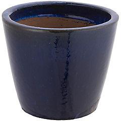 Macetero de cerámica, color azul