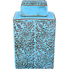 Jarro 22x13x8 cm cerámica turquesa