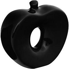 Manzana decorativa 12x13x4,5 cm cerámica negro