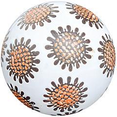 Esfera decorativa 10 cm cerámica crema