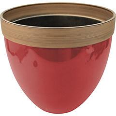 Macetero plástico rojo 36x33 cm