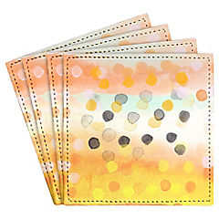 Set de 4 posavasos Watercolors Dots II Artista de Chile
