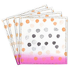 Set de 4 posavasos Watercolors Dots Pink Artista de Chile