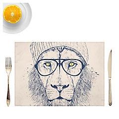 Set de 4 individuales Cool Lion Artista de Hungría